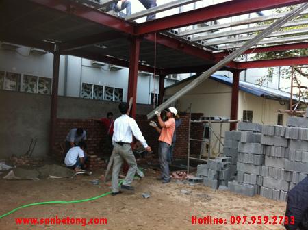 Lắp ghép sàn bê tông nhẹ tại Hoàng Cầu